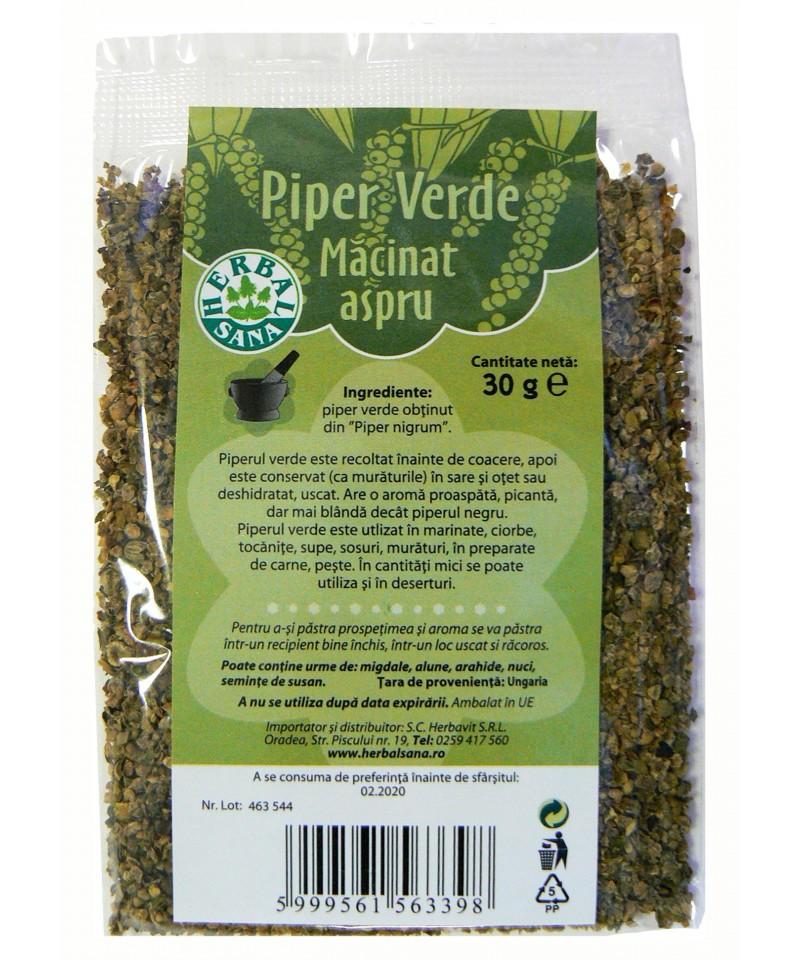 Piper Verde măcinat aspru