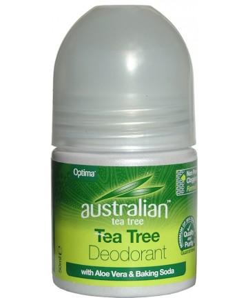 Deodorant răcoritor cu ulei de arbore din ceai, aloe vera și bicarbonat de sodiu