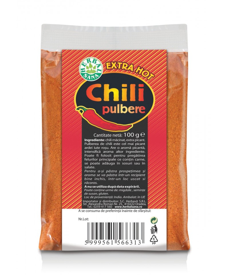 Chili pulbere - extra hot - 100g