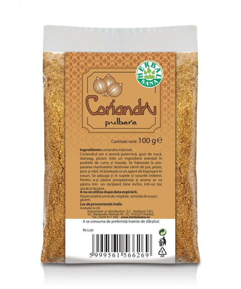 Coriandru - pulbere - 100g