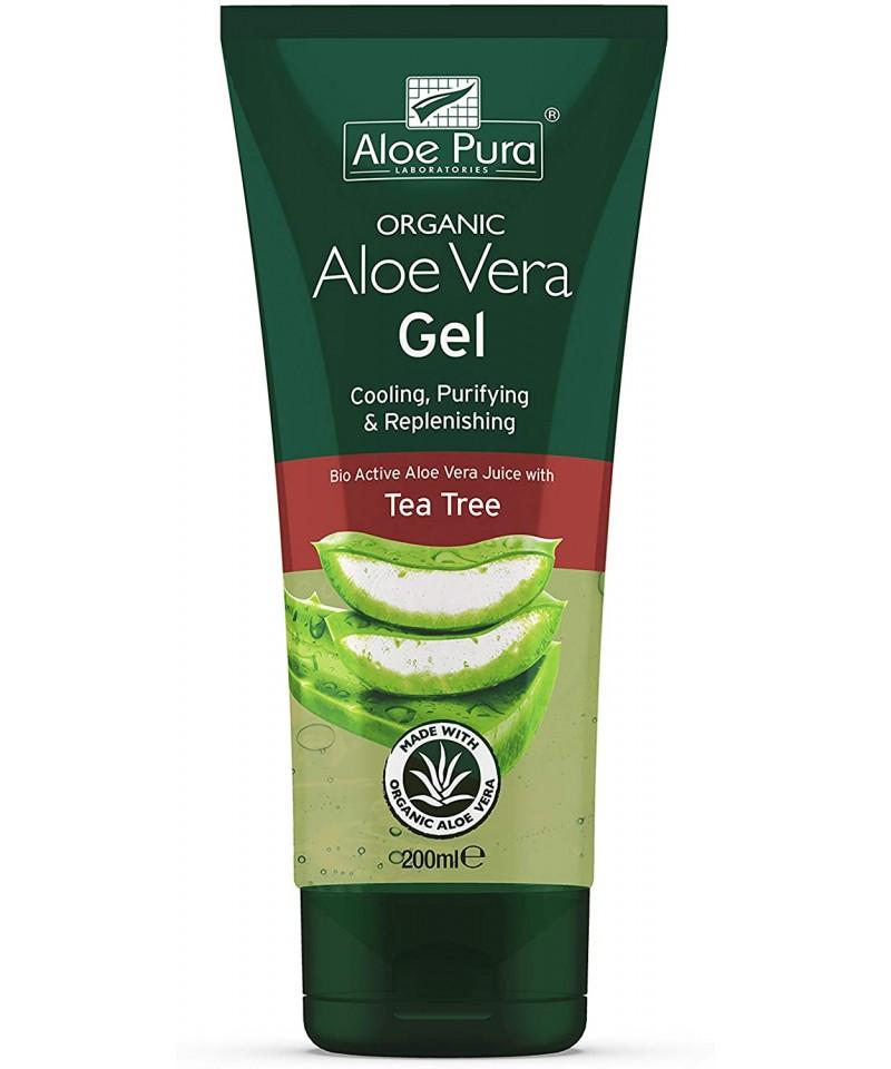 Aloe Pura - Gel Aloe Vera cu ulei din arbore de ceai