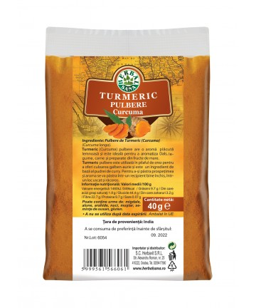 Pulbere de Turmeric (Curcuma) 40 g