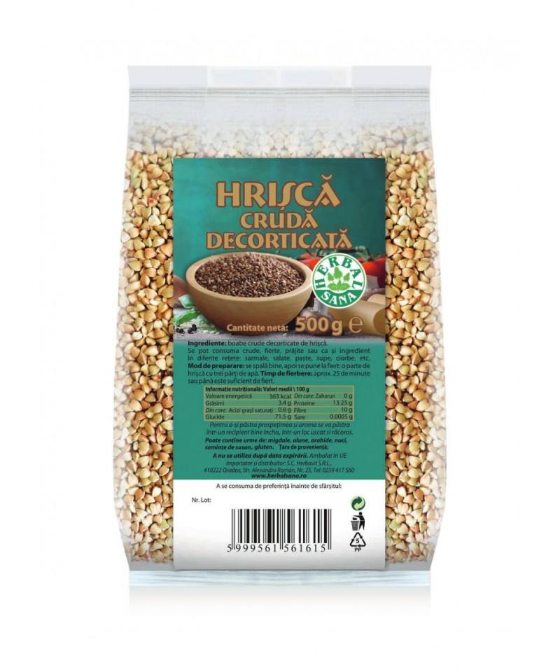 HRISCA CRUDA DECORTICATA -500 G